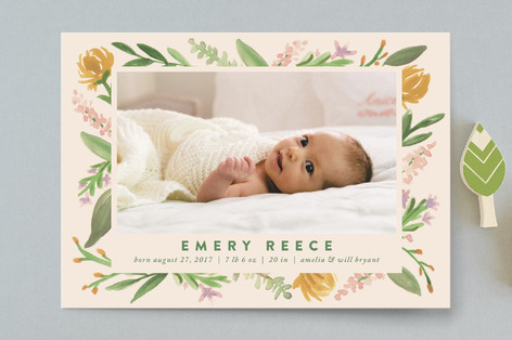 Garden Edge Birth Announcement Postcards