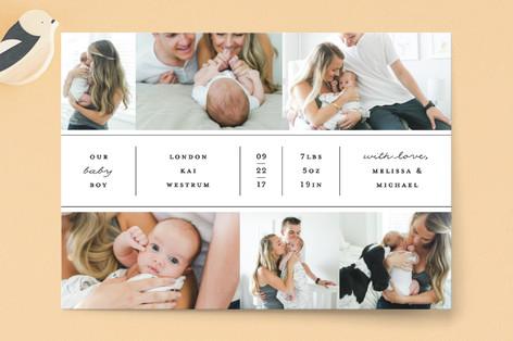 ID Bracelet Birth Announcement Postcards