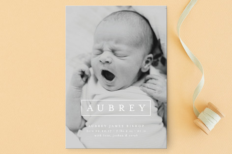 Editorial Nickname Birth Announcement Postcards
