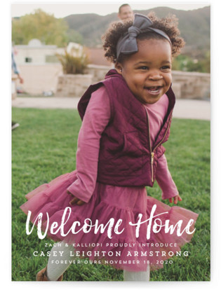 Homecoming Birth Announcement Postcards