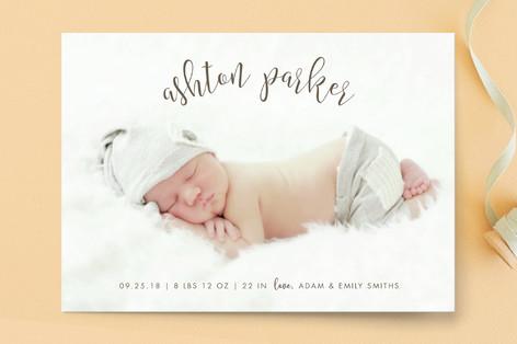 Modern Classic Birth Announcement Postcards