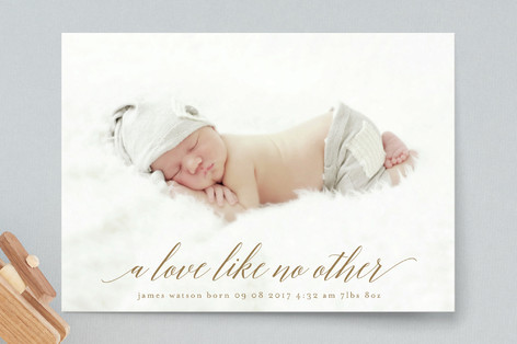 love like no other Birth Announcement Postcards