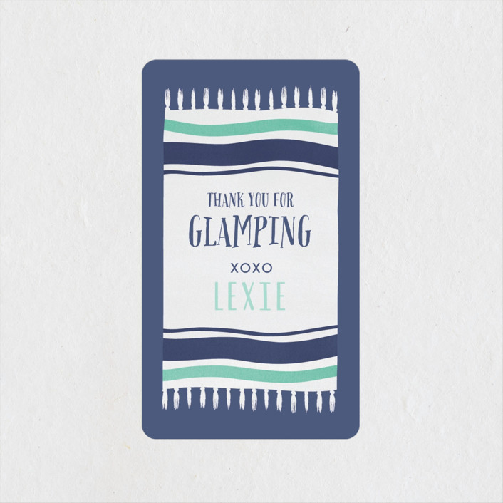 """Gone Glamping"" - Bachelorette Party Favor Stickers in Mint by Angela Garrick."