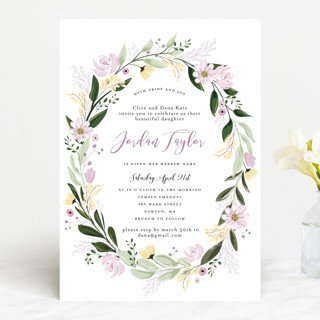 Floral Sprinkle Bris and Baby Naming Invitations