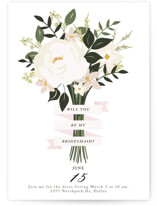This is a pink will you be my bridesmaid card by Haley Warner called Bridesmaid Bouquet with standard printing on signature in standard.