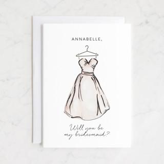 Bridesmaid Dress Bridesmaid Cards