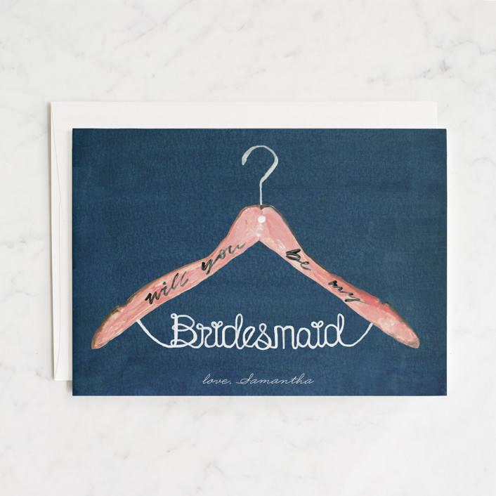 """bridesmaid hanger"" - Bridesmaid Cards in Nightfall by Cass Loh."