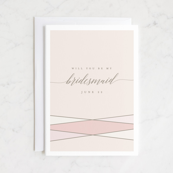 """Wrapped Up"" - Bridesmaid Cards in Blush by Karidy Walker."