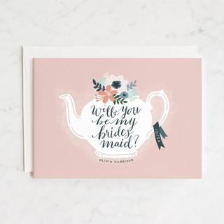 Teapot Flower Bridesmaid Cards
