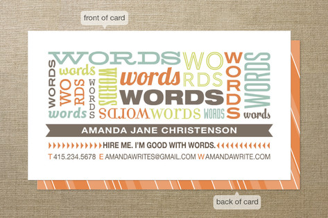 Good with Words Business Cards