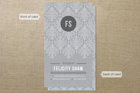 Initial Lace Business Cards