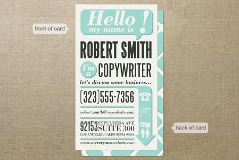 Hello im a business cards by geekink design minted hello im a business cards colourmoves