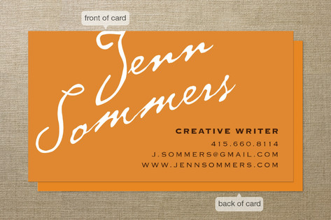 Antique Copperplate Business Cards