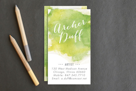 Watercolor splash business cards by erin deegan minted watercolor splash business cards colourmoves