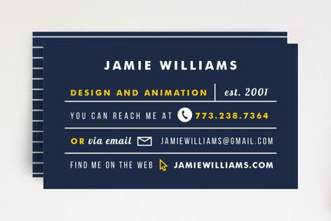 Clean & Dapper Business Cards