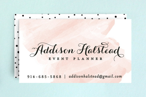 Pink Wash Business Cards