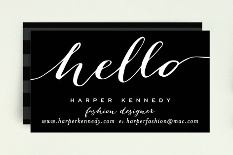 Chic Black and Gold Business Cards