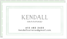 This is a green business card by chocomocacino called Limone printing on signature.