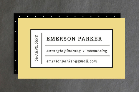 Playful Grid Business Cards