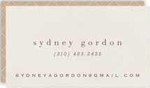 This is a beige business card by chocomocacino called agnolotti printing on signature.
