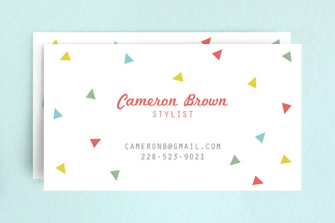 Triangle Circus Business Cards
