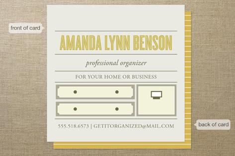 Top Shelf Professional Organizer Business Cards