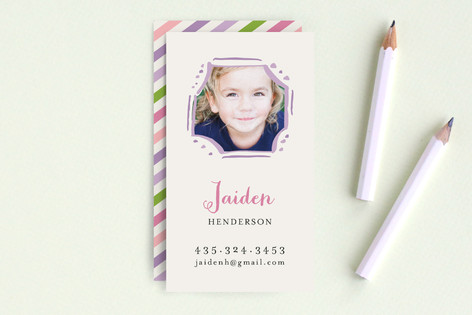 Playful Frame Business Cards