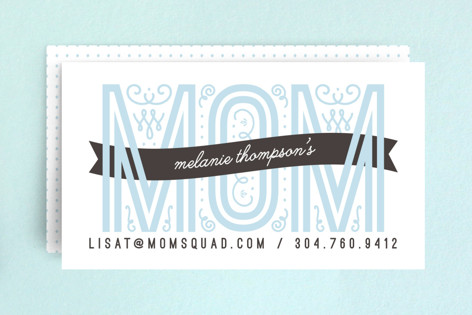 Mom calling card business cards by christina novak minted mom calling card business cards colourmoves