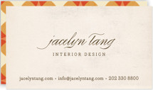 This is a beige business card by nocciola design called Circular printing on signature.