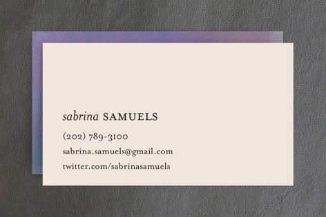 Impressionist Business Cards