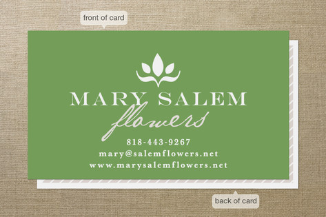 Abstract Bloom Business Cards