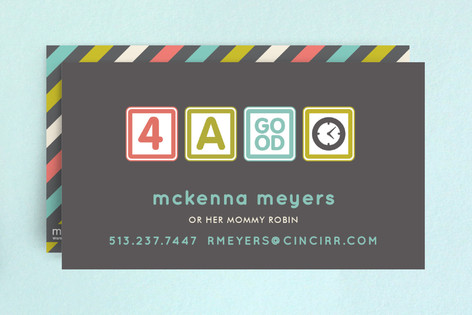 Blocks Of Fun Business Cards By Carrie Oneal Minted