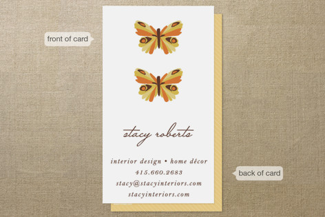 Botanical Butterfly Business Cards