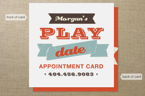 Let's Play Appointment Card Business Cards