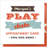 Let's Play Appointment Card