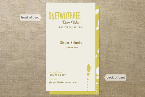 One Two Three Business Cards