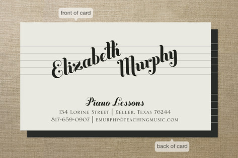 Piano Lessons Business Cards