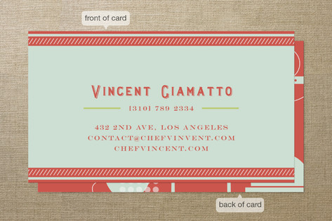 Sizzling Kitchen Business Cards by chocomocacino | Minted