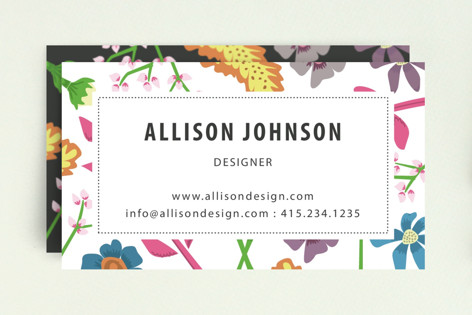 Wild Flowers Business Cards By Sa Ranneby Minted