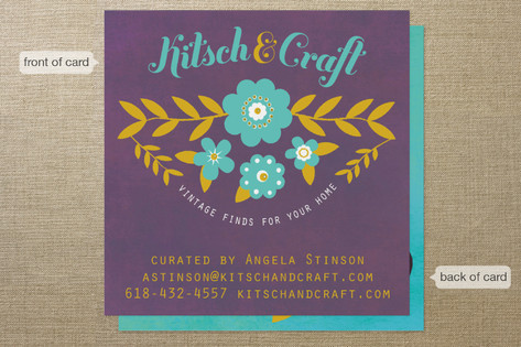 folksy floral Business Cards
