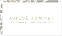 This is a beige business card by Jody Wody called Swish printing on signature.