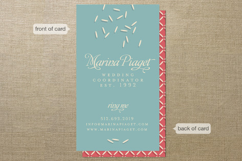 wedding coordinator business cards - Wedding Planner Business Cards