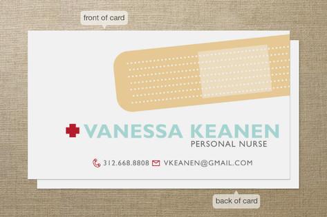 Band aid business cards by sheila sunaryo minted band aid business cards colourmoves