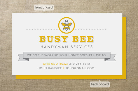 Busy bee business cards by smudge design minted busy bee business cards colourmoves