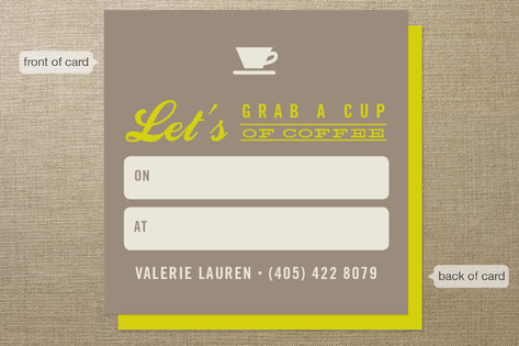 Coffee Meetup Business Cards
