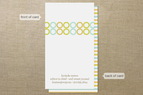 Colorful Impression Business Cards