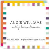 This is a colorful business card by SimpleTe Design called Colorful Playtime printing on signature.