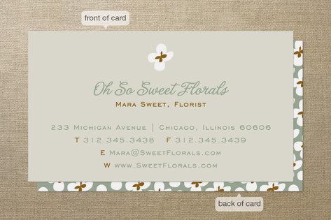 Dainty Flowers Business Cards