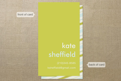 Mustard stripe business cards by laura hankins minted mustard stripe business cards colourmoves