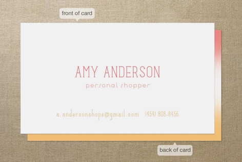 Ombre Stripe Business Cards